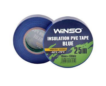 - Изолента Winso ПВХ синяя 25 м 19 мм -