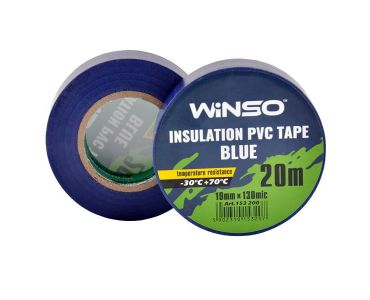 - Изолента Winso ПВХ синяя 20 м 19 мм (153200) -